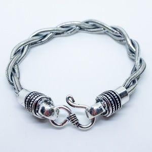 Tibetan 925 Sterling Silver Braided Bracelet